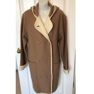 C/WS Casual Workstyles 100% Wool Camel Long Coat M